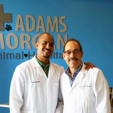 Drs. Jerrold and James Boone. Co-owners of Adams Morgan Animal Hospital